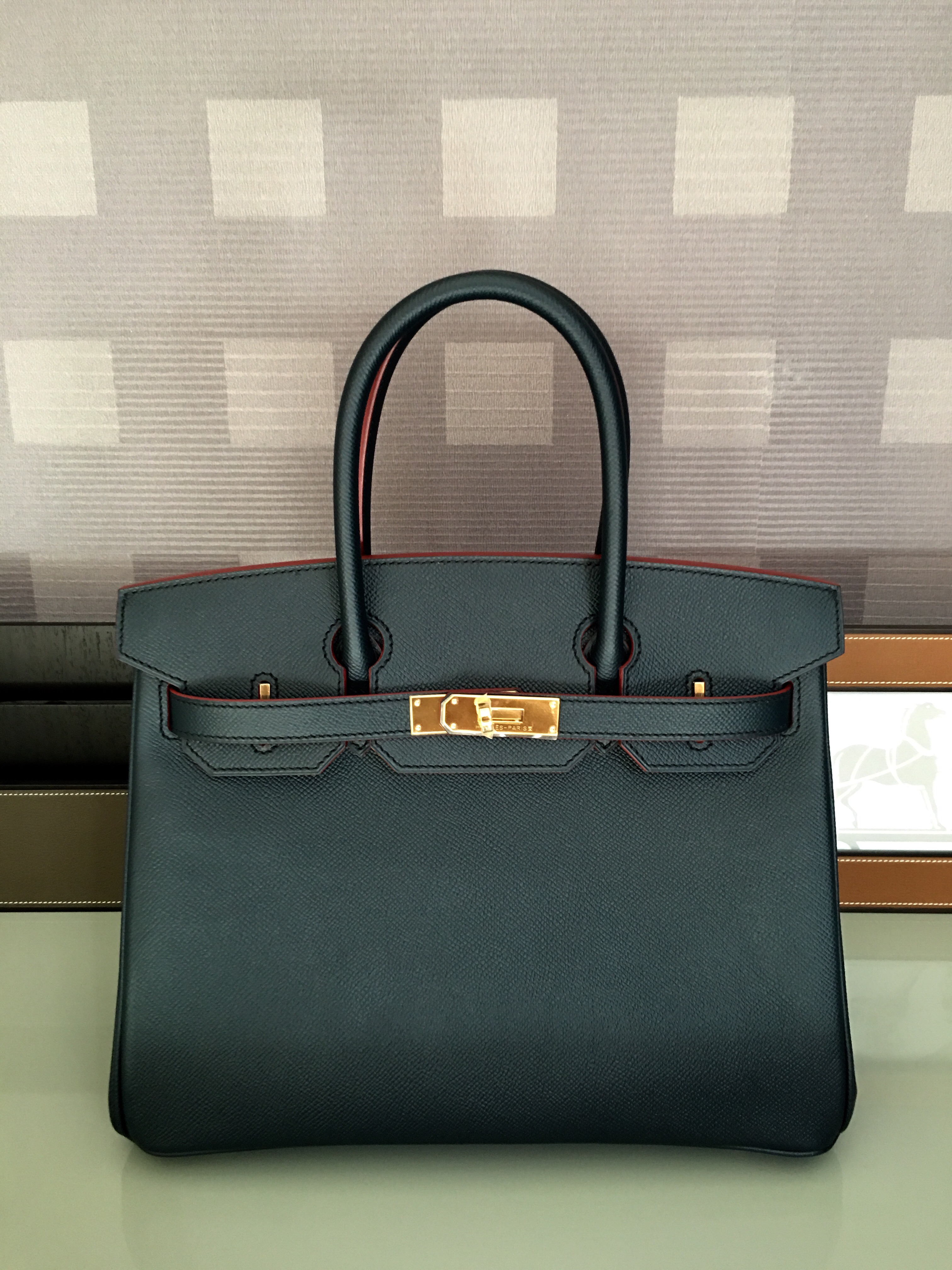 hermes birkin 30 rouge h with gold hardware
